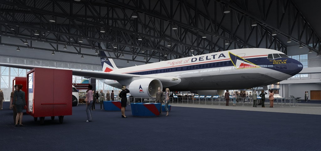 Delta museum delta air lines for Book a flight with spirit airlines