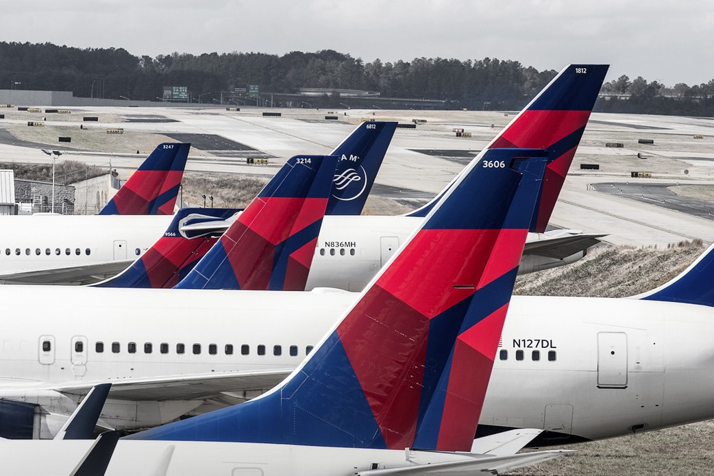 Image of Delta Fleet of Planes