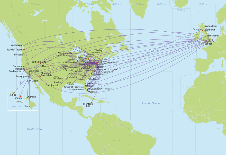 delta flights to europe map Virgin Atlantic Routes : Delta Air Lines