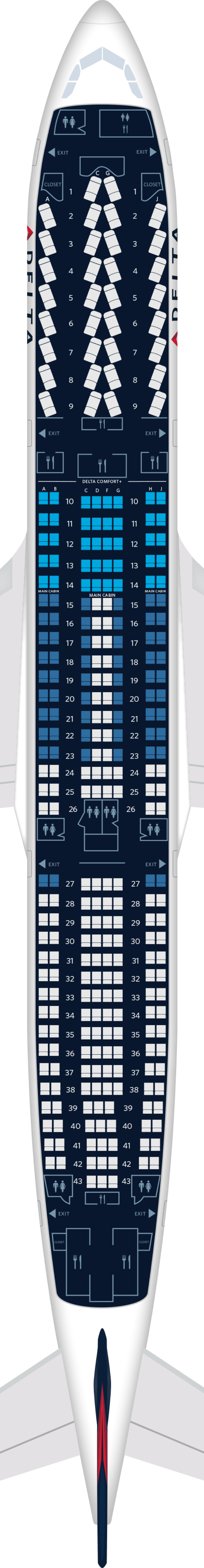 Airbus A330 300 Aircraft Seat Maps Specs Amenities
