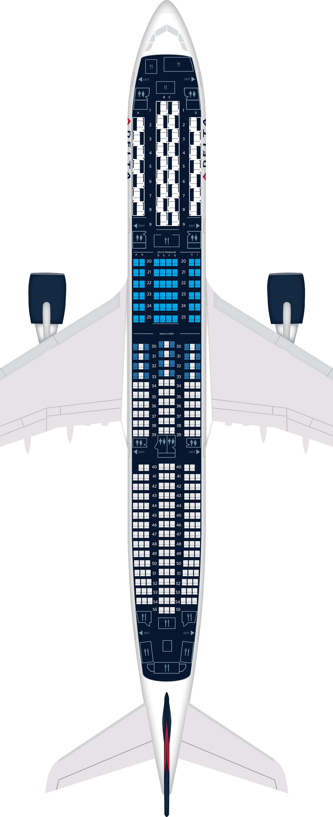 Airbus A350 Aircraft Seat Maps, Specs & Amenities : Delta ... on lot 787 seat map, a346 seat map, a340-500 seat map, airline seat map, a350-900 seating map, dc8 seat map, b737 seat map, 787-9 seat map, us airways a321 seat map, a380 seat map, l1011 seat map, us air a330-300 seat map, lufthansa seat map, a340-300 seat map, a388 seat map, a345 seat map, embraer e-190 seat map, 787-800 seat map, b747-8 seat map, a318 seat map,