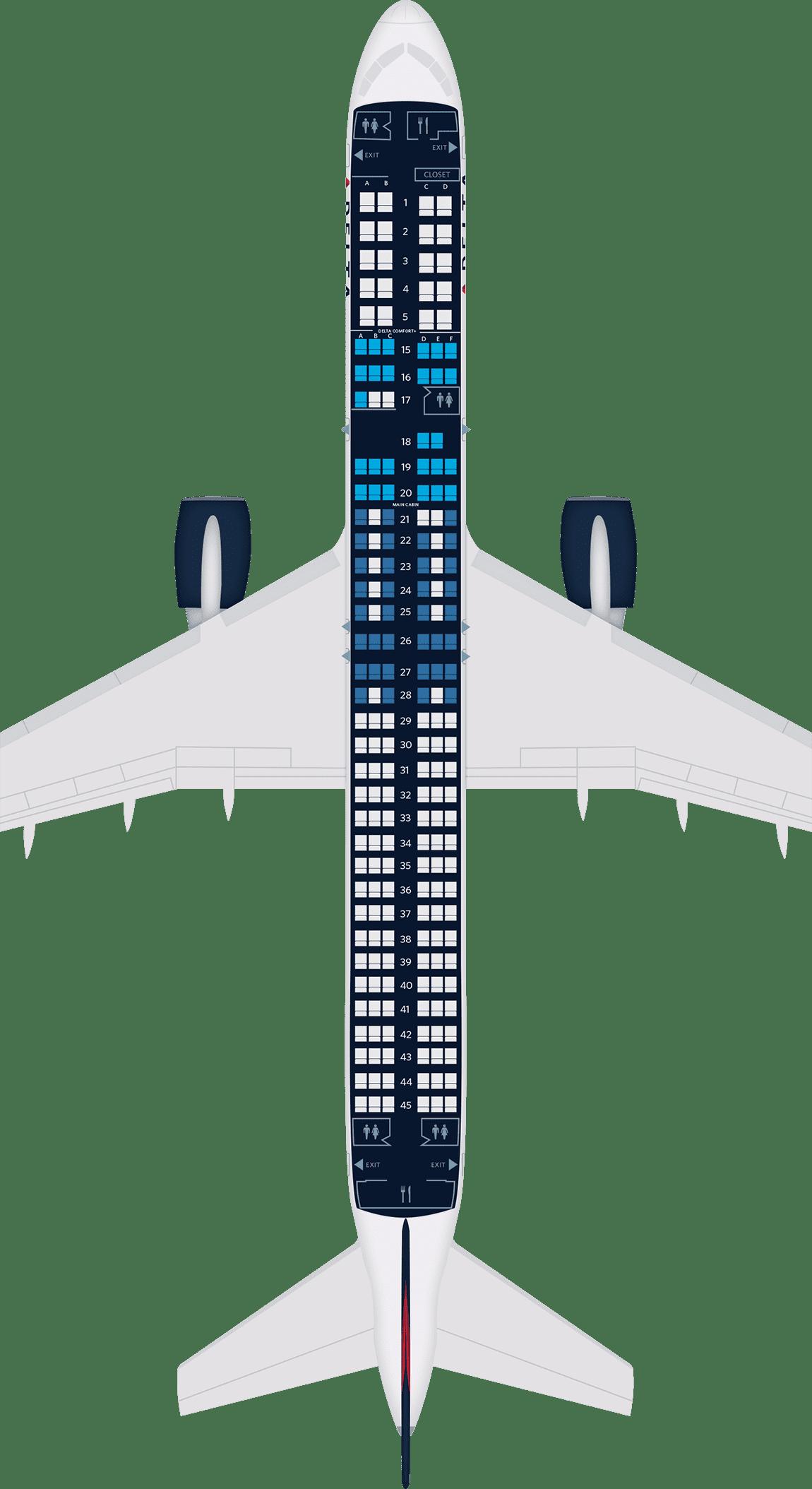 Boeing 757-200 Aircraft Seat Maps, Specs & Amenities : Delta