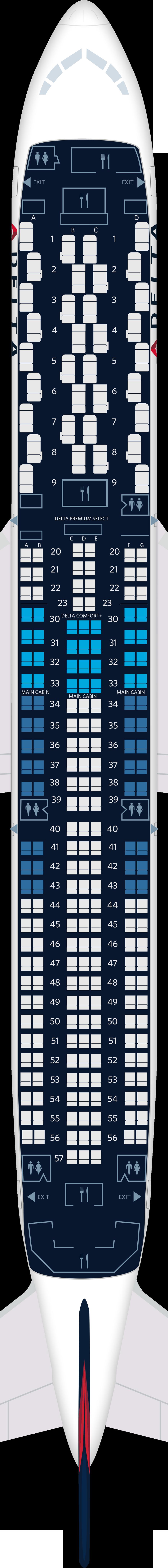 Boeing 767-400ER Aircraft Seat Maps, Specs & Amenities