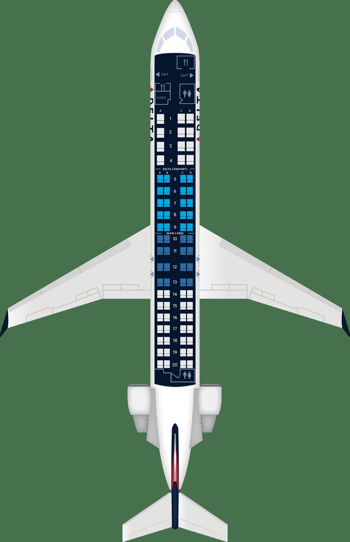 Aircraft Seats: Bombardier CRJ-900 Aircraft Seat Maps, Specs & Amenities