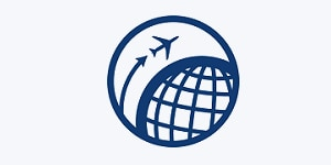 an icon representing travel and perks