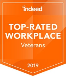 Indeed Top Rated Workplace for Veterans 2019