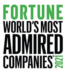 Fortune's Worlds Most Admired Companies 2021